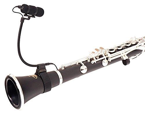 Pronomic SET MCM-100K Clipmikrofon mit Halter (Kondensator Mikrofon, Schwanenhals, Universal Klettbandhalter bis 5 cm Durchmesser, Phantomspeisung, XLR Adapter, Case) schwarz