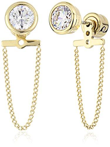 Michael Kors Brilliance Gold Drop Stud Earrings