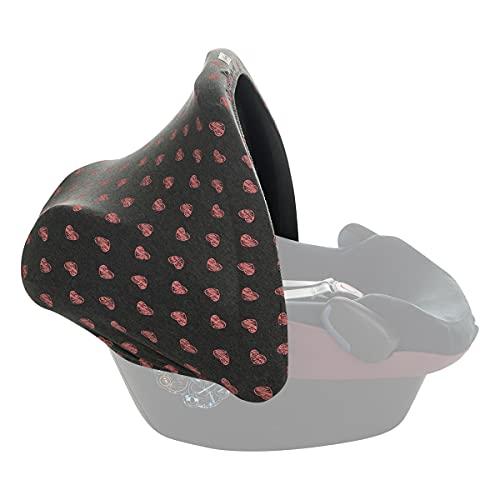 JANABEBE Capota universal compatible con Maxi Cosi (Fluor Heart)