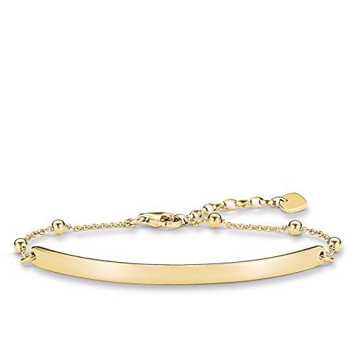 Thomas Sabo Damen-Armband Love Bridge 925 Sterling Silber 750 gelbgold vergoldet Länge von 15 bis 18 cm Brücke 5.4 cm LBA0044-413-12-L18v