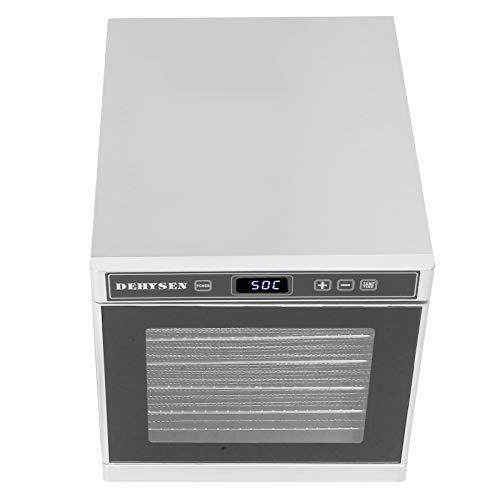 Kadimendium Machine de séchage des Aliments à déshydrateur de Fruits à température réglable de 24 Heures à économie d'énergie, pour Le séchage des Fruits(European regulations)