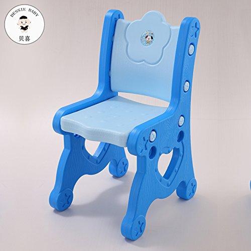 Dana Carrie Sedie per Bambini Bambino imparerà Le tabelle di plastica e sedie Piccole sedie per Bambini sedie Baby Sgabello Spessore Regolabile, Blu 4 pz