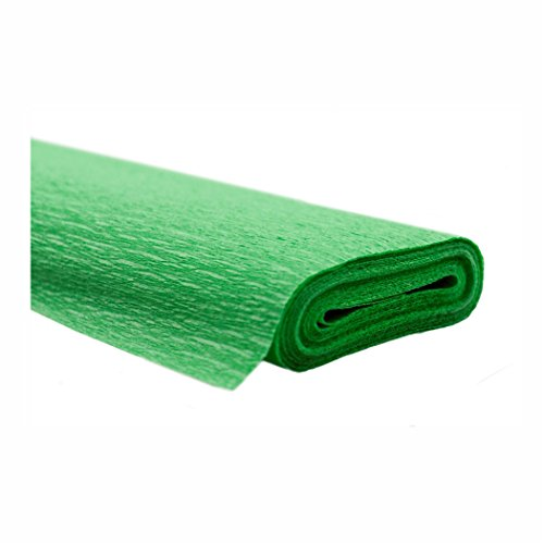 Creleo 791468 10 Rollen Krepppapier 50 x 250 cm hellgrün -wasserfest-, wasserfest super starke Qualität 60g/m²