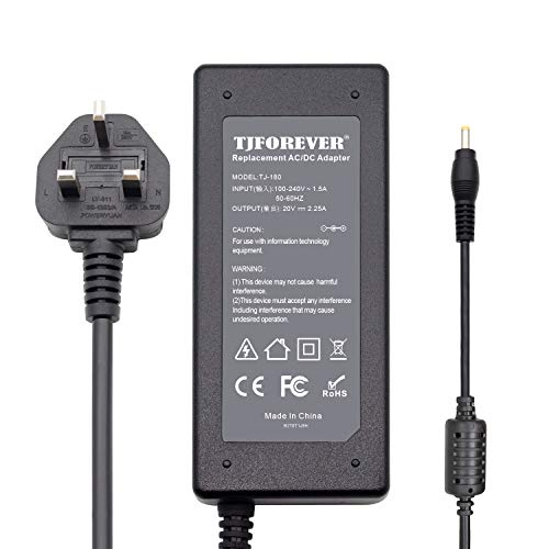 Laptop Charger for Lenovo 20V 2.25A 45W Ideapad 320s 330s 310 320 110s 110 Yoga 510 710 720 ultrabook Netbook Computer AC Adapter Power Supply Connector: 4.0 * 1.7mm