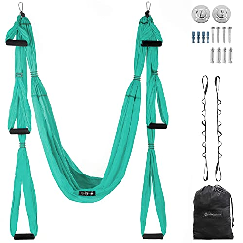 UpCircleSeven Aerial Yoga Swing Set Ceiling Mount Accessories, Turquoise