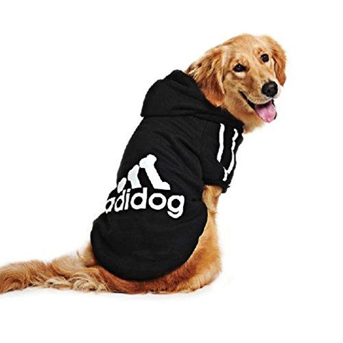 """KayMayn Hunde-Pullover mit Kapuze, mit Aufschrift """"Adidog"""", sportlicher Look, 7 Farben, in den Größen S bis 9XL"""