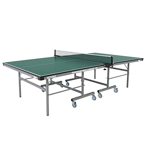 Butterfly Premium 19 Rollaway Table Tennis Table | 3 Year Warranty Ping Pong Table | Ping Pong Table Official Size | Sturdy Frame for Schools, Rec Centers, or Game Rooms | Folds with Wheels