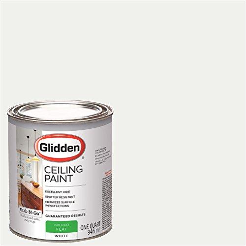 Glidden Ceiling Paint White Flat Finish Quart
