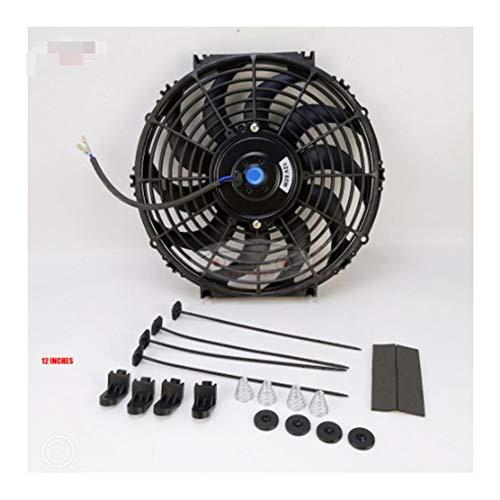 WHWEI Universale 12 inch 12V 80W 2100RPM Lisci Neri Lama elettrica di Raffreddamento della Ventola del radiatore Kit + Il Telaio della Ventola (Color : Fan Rack Plus Fan)