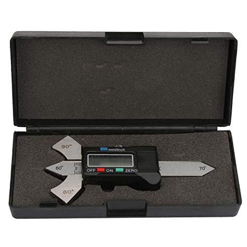 Medidor de inspección de soldadura Medidor de soldadura digital de resolución de 0,01 mm Medidor de soldadura para el hogar con caja