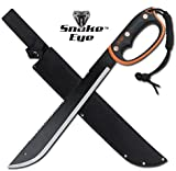 Snake Eye Tactical Full Tang Two Tone Handle Fixed Blade Machete w/Sheath Outdoors Hunting Camping Fishing (279S)