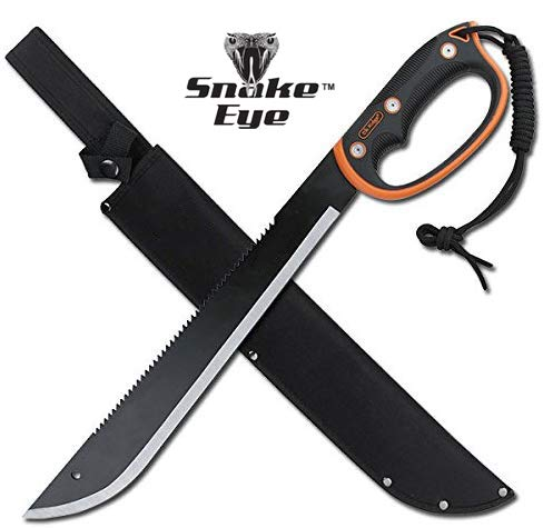 Snake Eye Tactical Full Tang Two Tone Handle Fixed Blade Machete w/Sheath Outdoors Hunting Camping...
