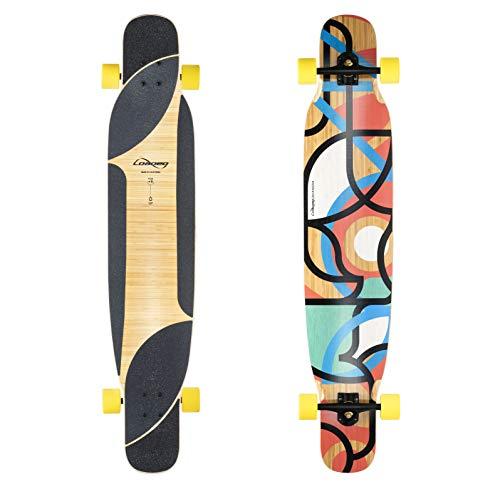 Loaded Boards Bhangra - Skateboard Completo in bambù, Version 2 -Orangatang Stimulus 70mm/86a Wheels, Flex 2 (90-190+ lbs / 40-86+ kg)