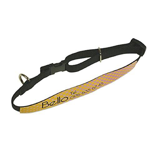 Schilderfeuerwehr Hundehalsband mit Foto, Telefonnummer und Namen selbst Gestalten und Bedrucken ✓ Tierhalsband ✓ Katzenhalsband ✓ bedruckbares Halsband (20 mm)