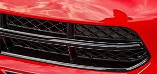 ZIC Corvette C7 Vinyl Chrome Grille Bar Overlay - Black Carbon Flash Metallic