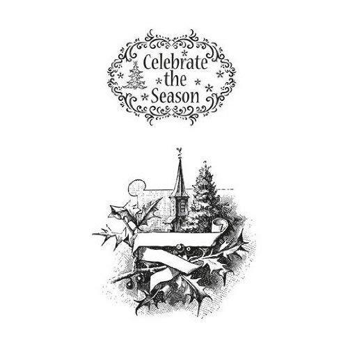 Marianne Design Transparante stempel Vintage Celebrate The Season, siliconen, 20 x 9 x 0,5 cm