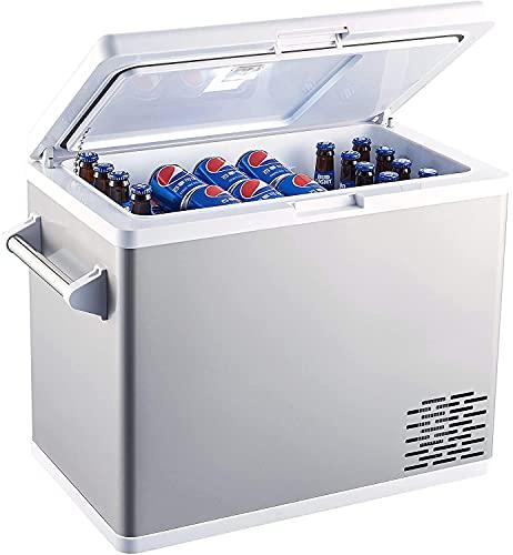 Portable Refrigerator Fridge Freezer for car, Boat, RV, Camping, Roadtrip, Outdoor Recreation (54-Quart White)