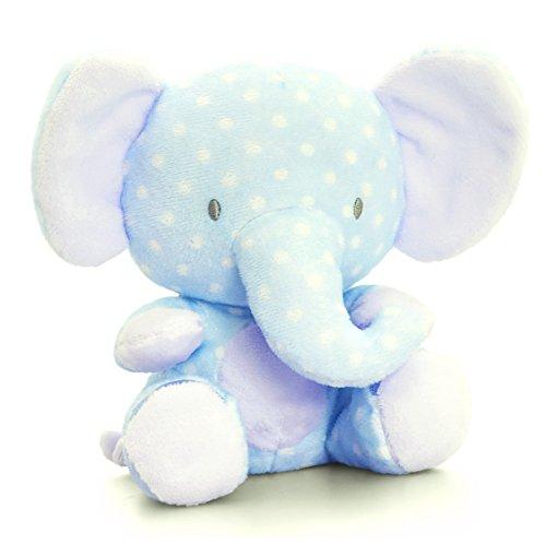Lashuma Plüschtier Baby Elefant Blau, Keel Stofftier mit Knisterohren, Rüsseltier Plüschelefant 16 cm