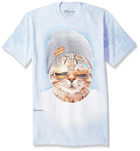The Mountain Cool Chat Hipster Adulte XL Unisexe Bleu T Shirt