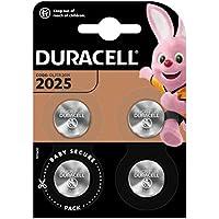 Duracell DL2025/CR2025 - Pilas especiales de botón de litio 2025 de 3V, paquete de 4 unidades diseñada para uso en llaves con sensor magnético, básculas, elementos vestibles y dispositivos médicos