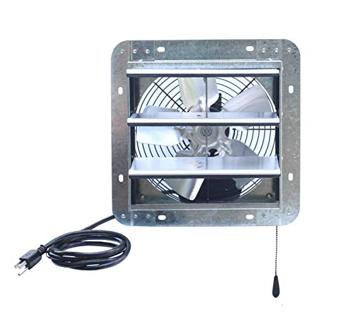 iLIVING ILG8SF10V-T, 10 inch Shutter Exhaust Attic Garage Grow, Ventilation Fan with 3 Speed Thermostat 6 Foot Long 3 Plugs Cord, 10