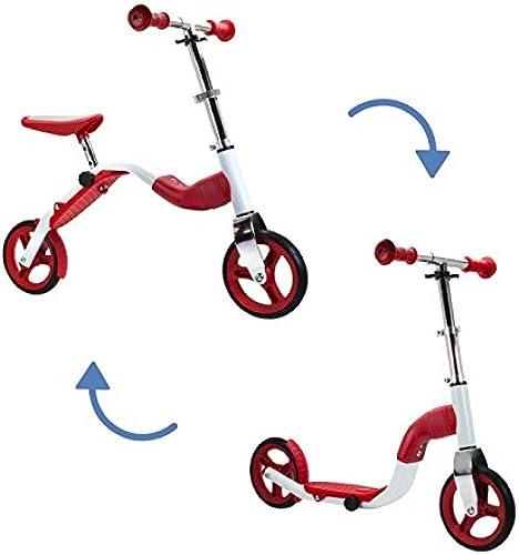 Kinder Roller&Laufrad Scoobik 2in1 rot