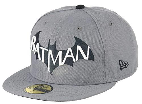 New Era Batman Storm Grey Black 59fifty 5950 Fitted Cap DC...