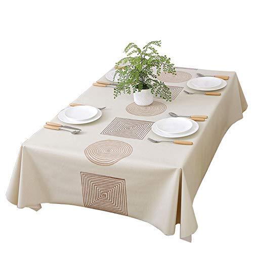 remecle テーブルクロス 撥水 PVC 北欧 137cm x 185cm ずれにくい 長方形 clothジオメトリー