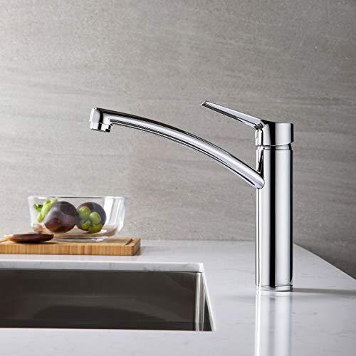 Lonheo Chrom Wasserhahn Küche 360° drehbar Einhebelmischer mit Komfort-Höhe 181mm, Messing Küchenarmatur Spültischarmatur Hochdruck Armatur Mischbatterie für Küche