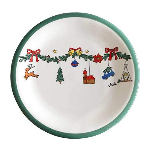440s Mila Keramik-Teller, Weihnachtszauber - MI-84188