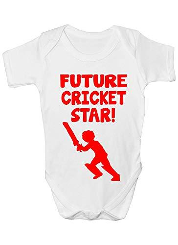 Mesllings Future Cricket Star Sport Divertido Baby Grow Regalo Tamaños 0-3 meses a 12-18 Meses multicolor 18 meses