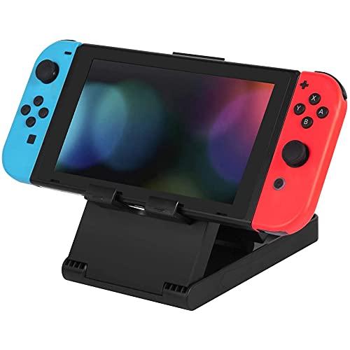 MMOBIEL Kompakter Konsolenständer Playstand für Nintendo Switch Faltbarer Ständer mit Gummigriff in 3 verschiedenen Winkeln