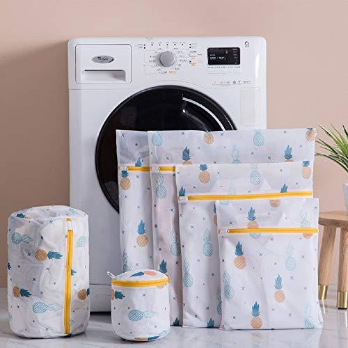 洗濯ネット ランドリーネット 洗濯袋セット 6枚入 傷み防止 絡み防ぎ 変形を防ぐ 家庭用 収納 旅行収納袋 (C03)