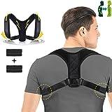 Charminer Supporto correttore postura regolabile per colonna vertebrale con cuscinetto di decompressione 37-45 in