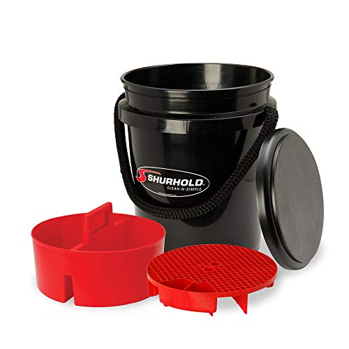 Shurhold 2462 5 Gallon Black Multi-Purpose Bucket Kit