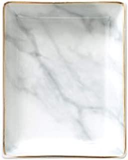 cuadrado blanco bandeja de blanco m/ármol blanco Madam Stoltz m/ármol Bandeja