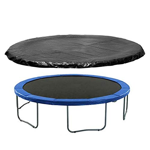 Round Trampoline Cover, 6/8/10/12/13/14/15/16 FT Trampolines Weather Cover Rainproof UV Resistant Wear-Resistant Trampoline Protective Cover,Black(Only Cover) (14FT)
