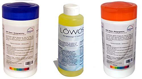 Löwensteinmedical Löwosan + CPAP Reinigungstücher in Neutral und Zitrus 3 Teile