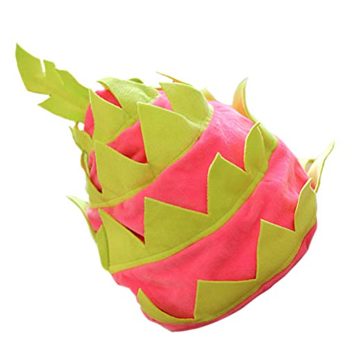 PRETYZOOM Pitaya Sombrero Tropical Fruta Sombrero Fiesta Mascarada Cosplay Pitaya Sombrero Realizando Sombreros Foto Prop Suministros para Fiestas