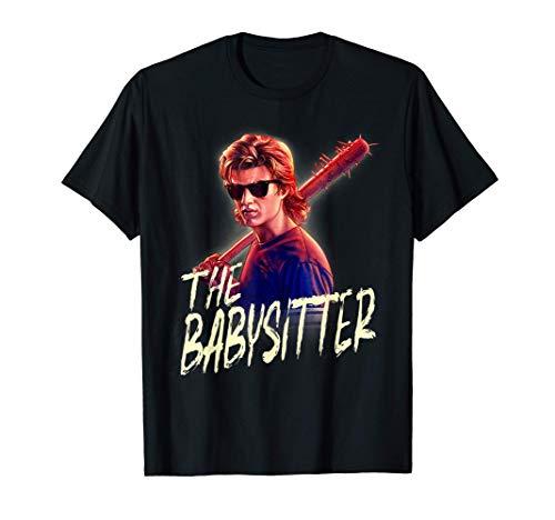 Netflix Stranger Things Steve The Babysitter Portrait Maglietta