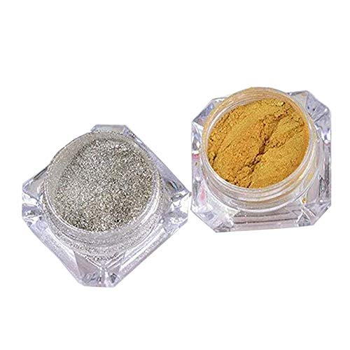 Outflower Nagellack, Staubpuder, mattierend, goldfarben, silberfarben, Farbe Nail Art Maniküre