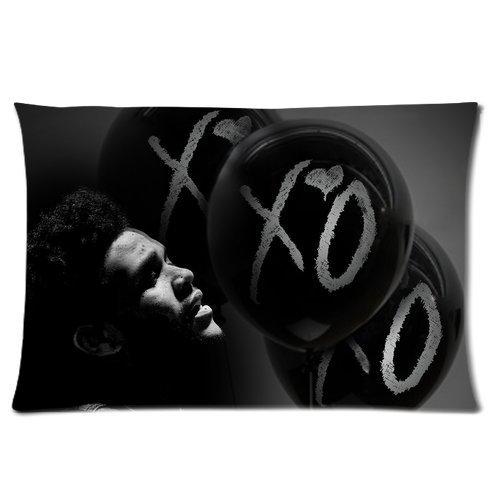 Generic Gepersonaliseerd De Weeknd Xo Retro Ballonnen Kussensloop Rechthoek Kussensloop 24x16 inch (één kant)