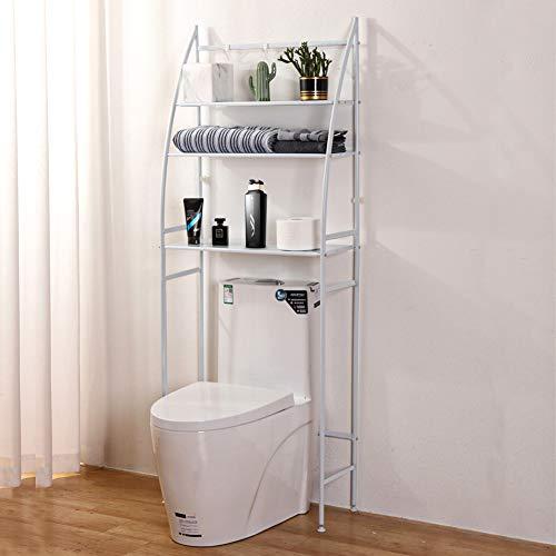 "Fit Right 3-Shelf Bathroom Organizer Over The Toilet Storage, Bathroom Shelf Over Toilet, 27""L x 10""W x 66""H (White)"
