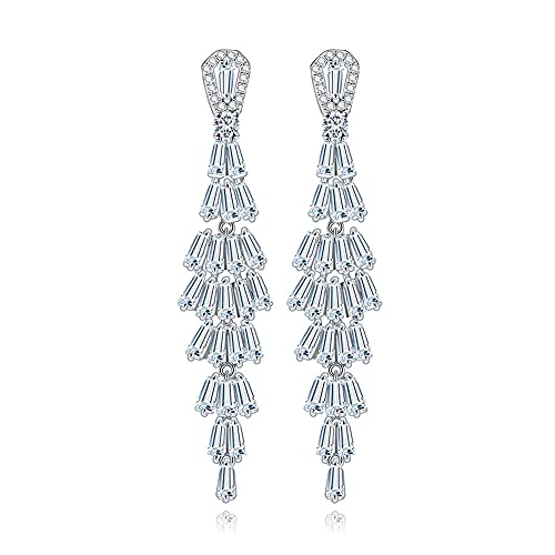 Pendientes para mujer Joyería de plata de ley 925 Pendientes sofisticados de cristal con acabado a mano para mujer Realizado en Plata de Ley acabado brillante