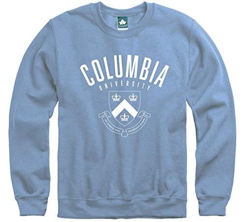 Ivysport Columbia University Crewneck Sweatshirt, Heritage Logo, Columbia Blue, Medium, Cotton Poly Blend for Men and Women, NCAA Officially Licensed Authentic Premium School Apparel