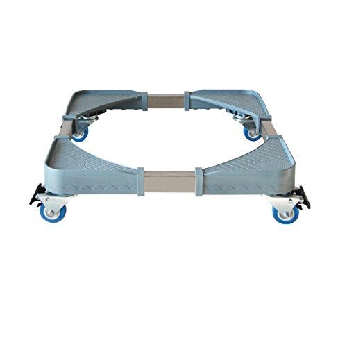 NUBAO Groot apparaat basis Vouwvoet Multi-functionele platform wasmachine/Droger/kast/koelkast 360 graden rotatie Verstelbare Afsluitbare basis grijs