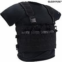 GLORYFIRE Tactical Vest Modular Assault Vest Law Enforcement Vest Breathable Combat Training Vest Adjustable Lightweight