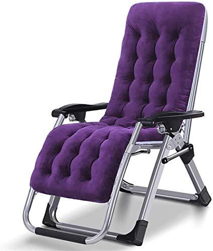 HUAQINEI Sillón reclinable Sillón reclinable portátil al Aire Libre Oficina en casa Pausa para el Almuerzo Camping Playa Tumbona-Azul (Color: Azul)