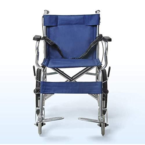 OSL Silla de ruedas plegable ligera Conducción médica, Silla de ruedas Plegable ultraligera Portátil Anciano Anciano Trolley pequeño Cochecito Cómodo OSL