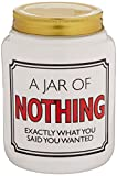 """Our Name is Mud """"Nothing"""" Ceramic Jar with Lid, 5.5 Inches"""